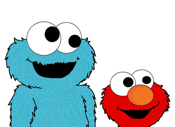 how to draw cookie monster and elmo