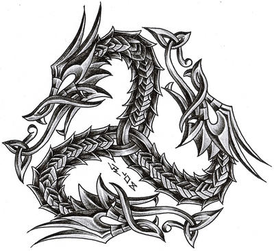 triskelion dragon by roblfc1892