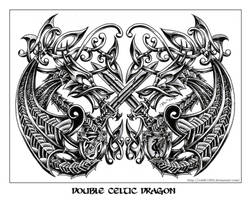 double celtic dragon by roblfc1892