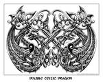 double celtic dragon