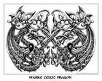 double celtic dragon