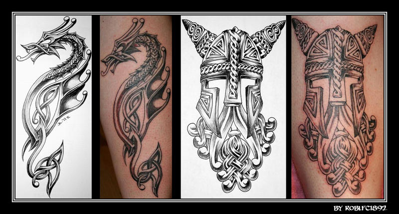 my designs on r1viking leg by roblfc1892