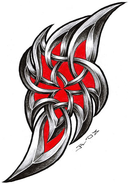 new style of tribal celtic tattoo design