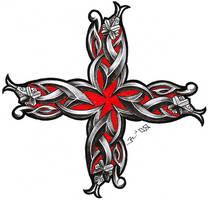 celtic snake cross by roblfc1892