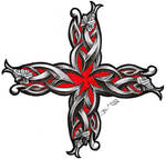 celtic snake cross