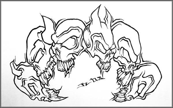 skulls by roblfc1892