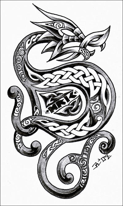 celtic dragon 3 by roblfc1892 on deviantart. Black Bedroom Furniture Sets. Home Design Ideas
