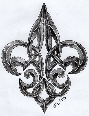 stoned fleur de lis ii by roblfc1892 on deviantart. Black Bedroom Furniture Sets. Home Design Ideas