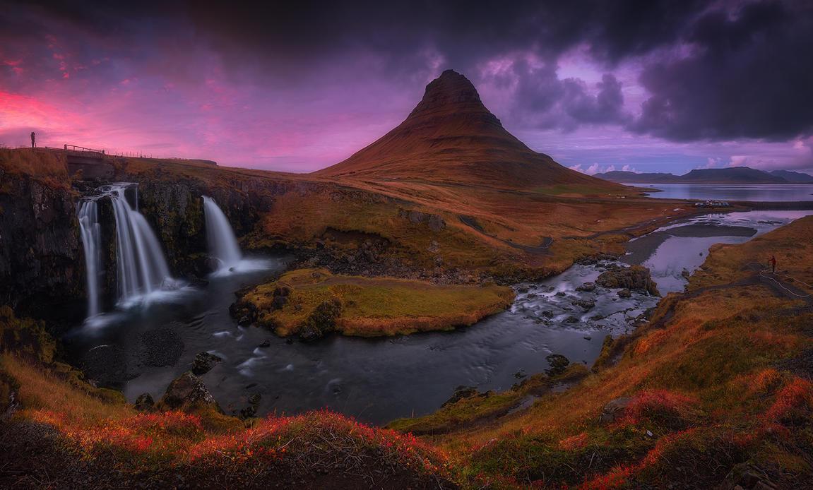 kirkjufellsfoss panorama by roblfc1892