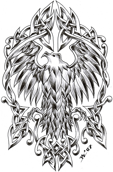 celtic eagle by roblfc1892