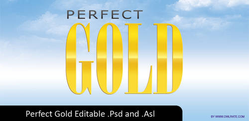 Perfect Gold Text Style by demarkies