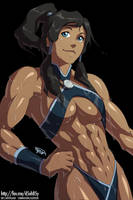 Korra Sweaty After Workout/Training 2 THE X-TREME by KeirTanaka