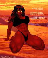 ELEE - tha Red-Hot Hulk Beach by KeirTanaka
