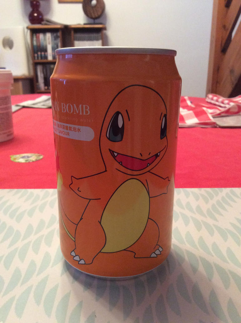 Charmander soda by Sia-the-Mawile