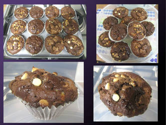 Mega chocolate muffins by Sia-Mon