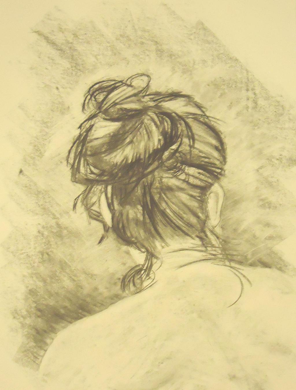 Back of a Woman's Head by MidsummerBluebird on DeviantArt