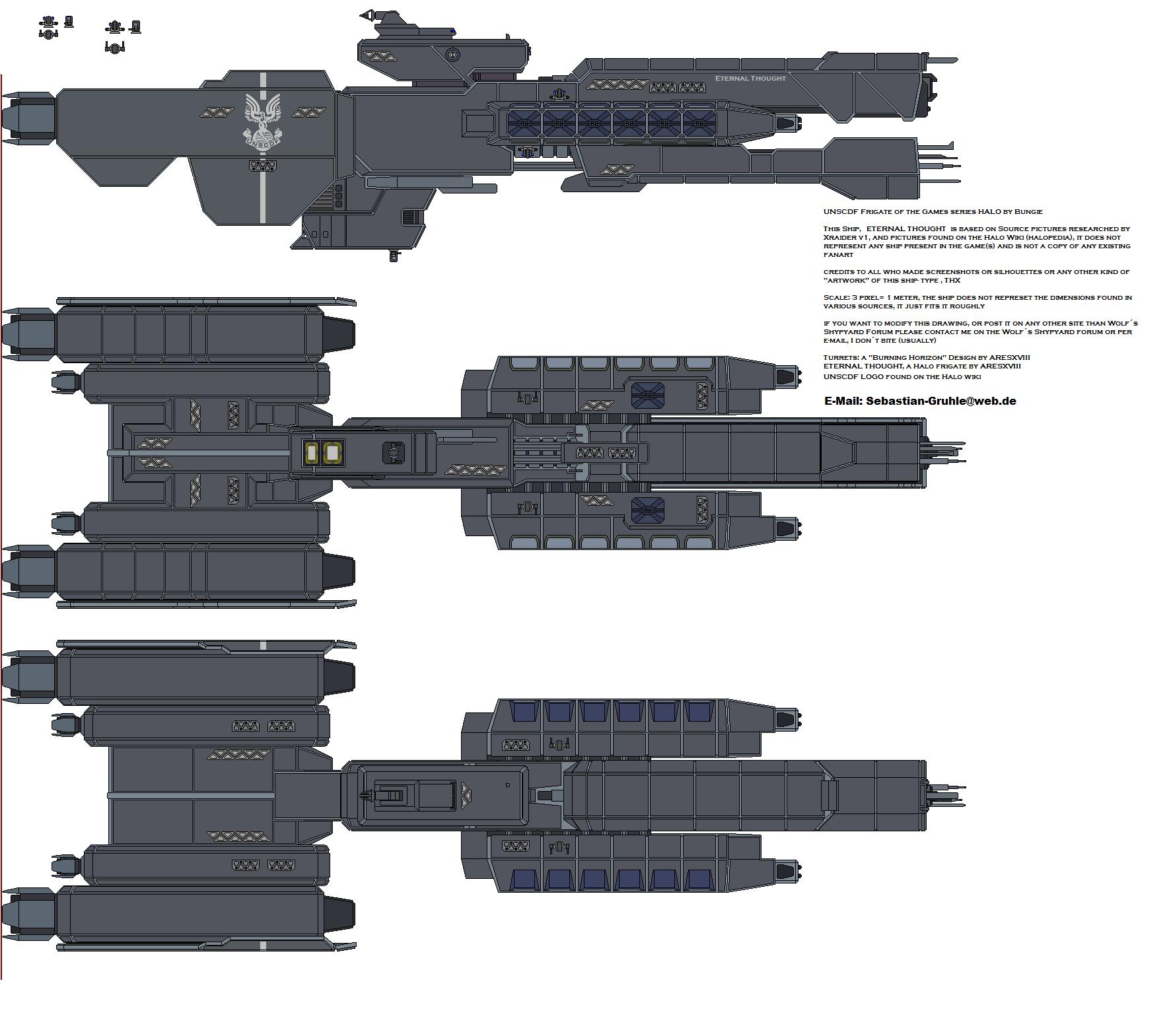 Eternal Thought Halo UNSC Frigate by AresXVIII on DeviantArt