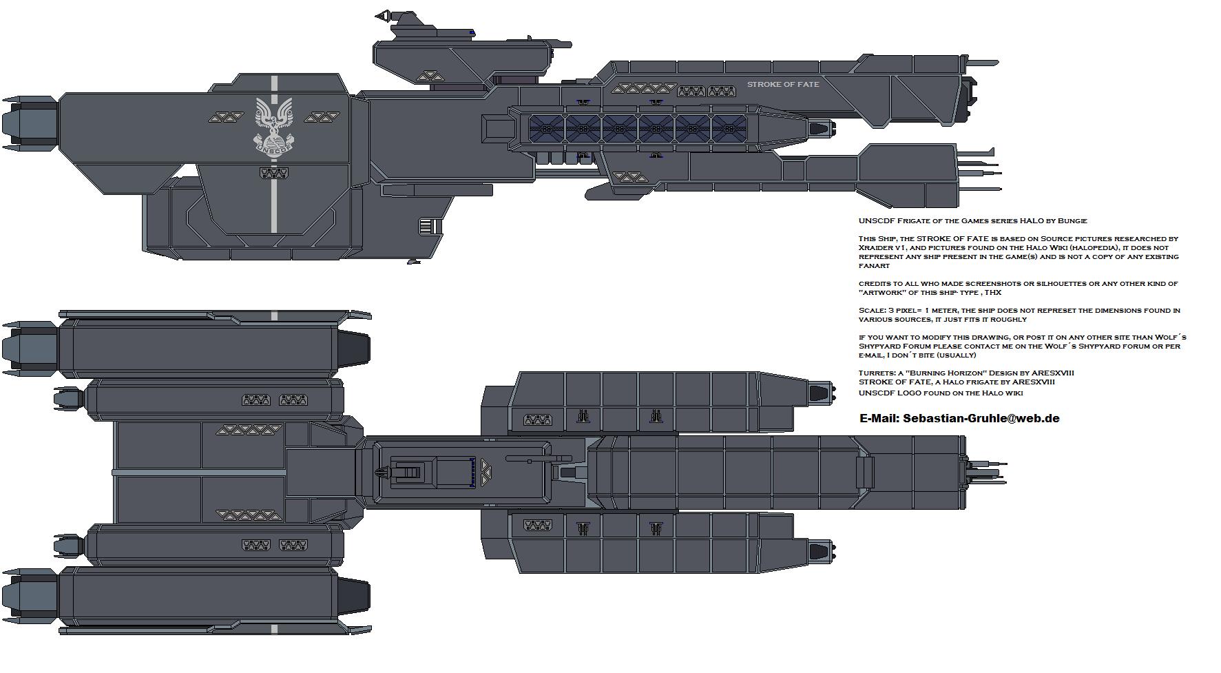 Halo 5 UNSC Frigate Triton: Test Render by calamitySi on DeviantArt