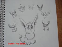 Eeveelution by Sophie-The-Skunk