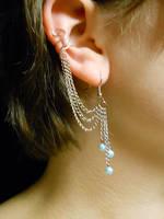 Ear Cuff Earring Set- Blue Ice by Min-Ekko