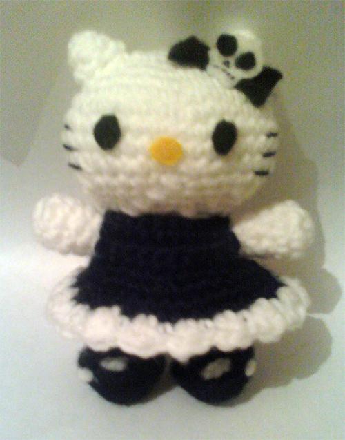 Amigurumi Hearthstone Pattern : gothic hello kitty amigurumi by adorablestejidos on DeviantArt