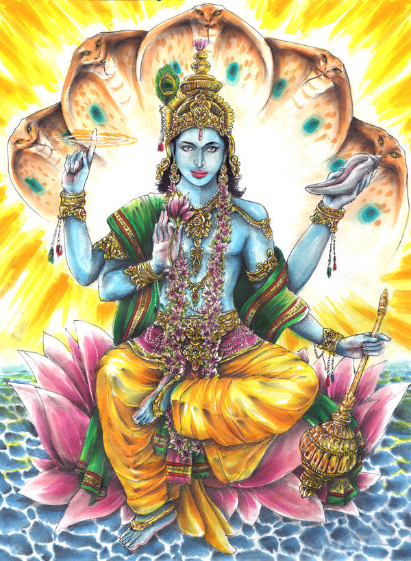 Lord Vishnu by El-i-or