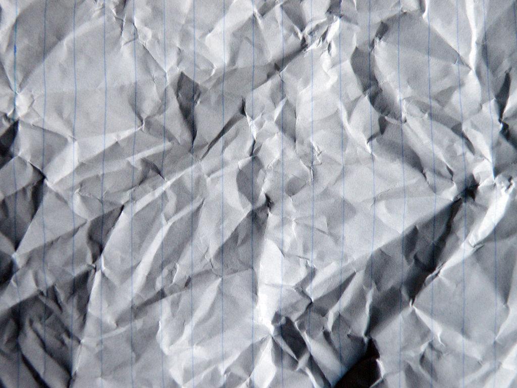 crumpled paper lines