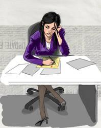 Lois Lane hard at Work... by Draw-Ben-Draw