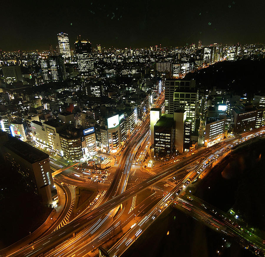 Tokyo at night by nikonforever