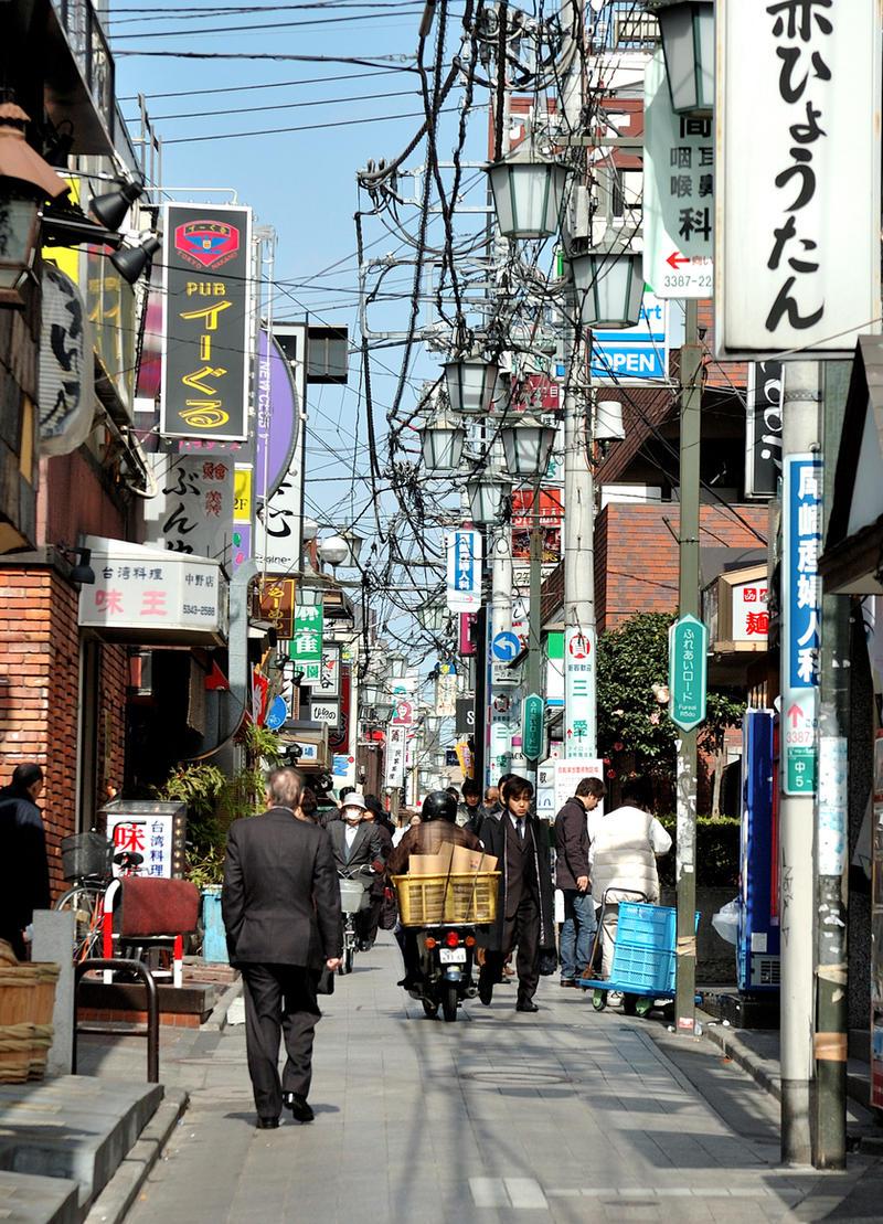 Little street in Nagano -Tokyo by nikonforever