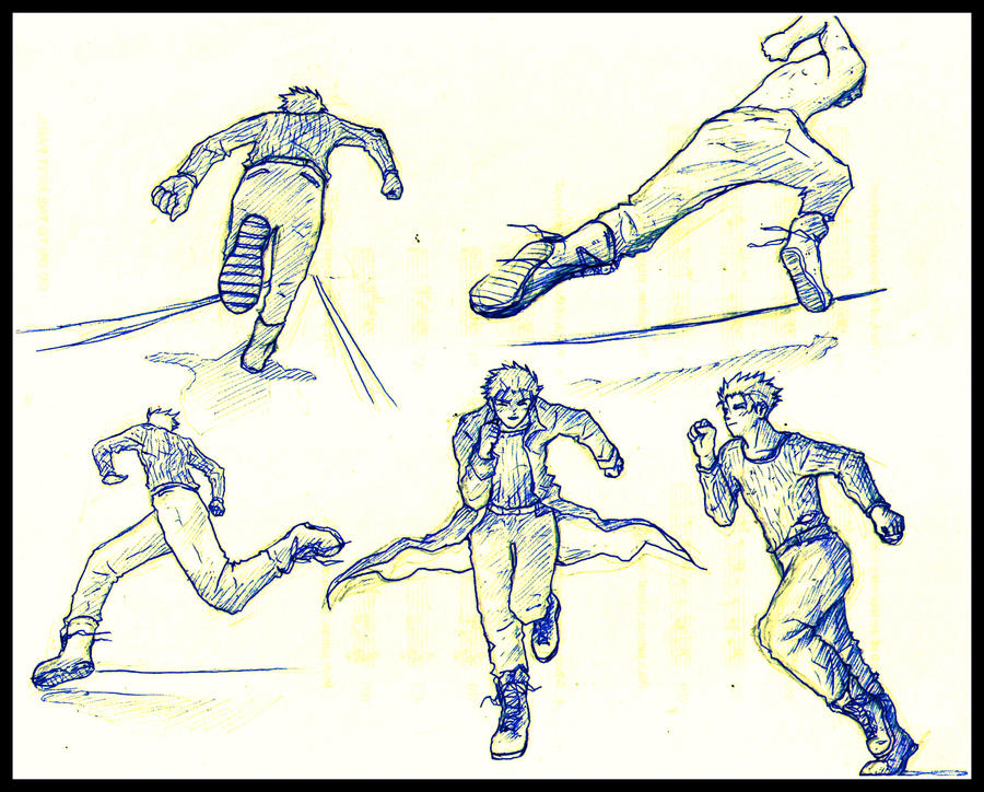 Anime Characters Running : Running poses by happylilsquirrel on deviantart