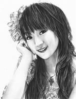 Nana Mizuki Portrait by happylilsquirrel
