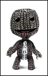 Sackboy - colored pencil