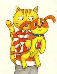 Denny And Coco by happylilsquirrel