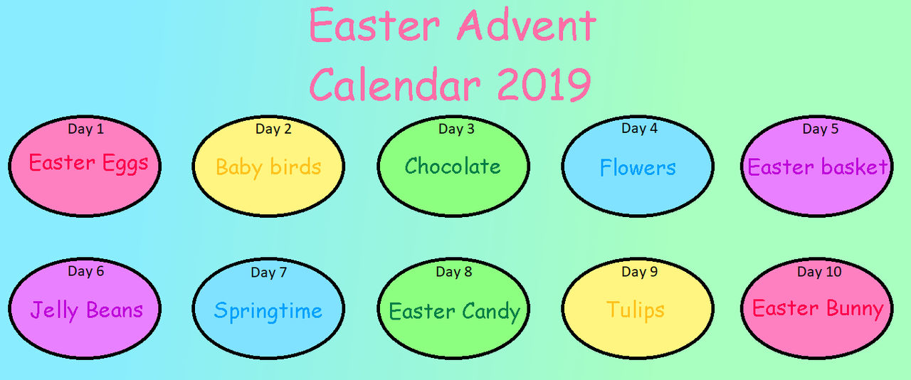 Chocolate Advent Calendar 2019.Easter Advent Calendar 2019 Closed By Arrienne408 On Deviantart