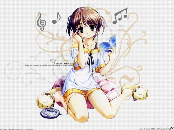 аниме слушает музыку картинки