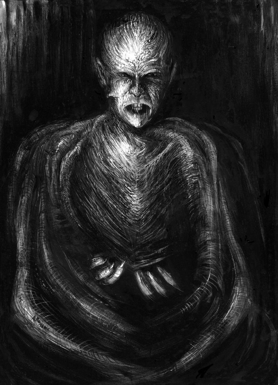 Traditional Dracula Drawing