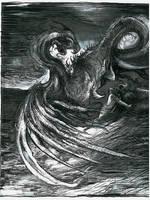 series of drawings Slavic Mythology - Zmij by masiani