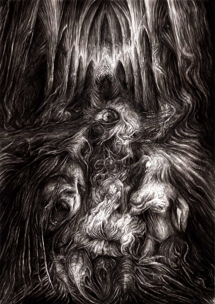The first exorcism Dorothy - drawing on paper by masiani