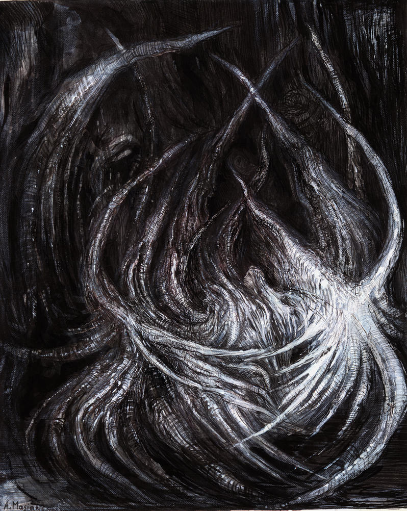 Serafiel drawing on paper by masiani
