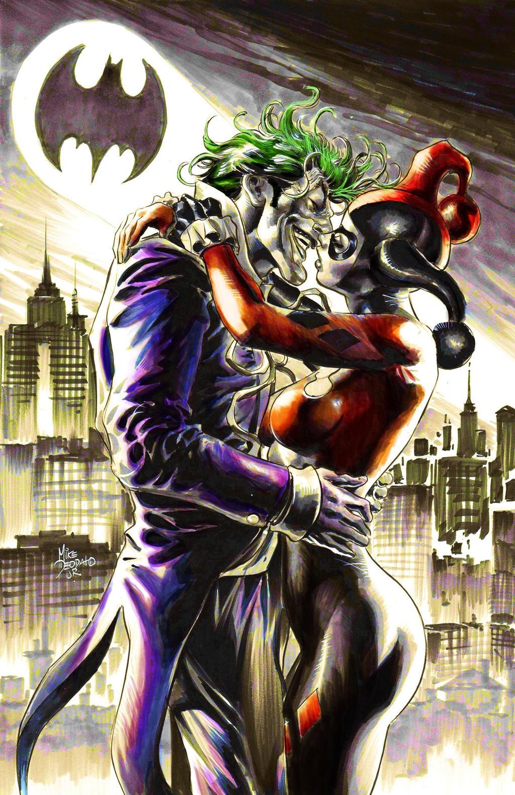 Joker e harley quinn by bluesnake49 on deviantart for Fotos de harley quinn