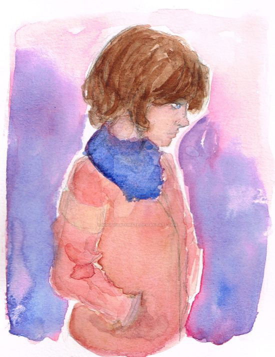 Watercolor Practice - Coat by MrUnfortunate