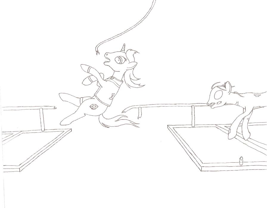 NATGII Day 18 - A Pony Acrobat/A Stable Pony by Jezendar