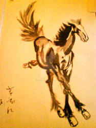 Horse in the Wind