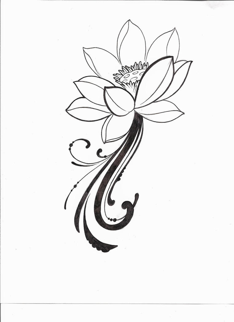 Simple tribal lotus flower tattoo comousar simple tribal lotus flower tattoo simple lotus flower tattoo izmirmasajfo