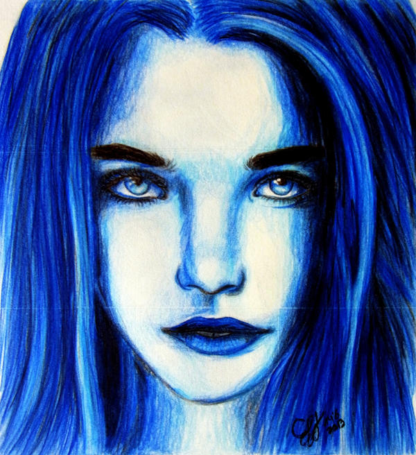 Blue Girl by Schoerie on DeviantArt