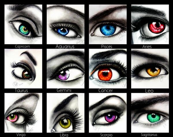 Zodiac sign eyes