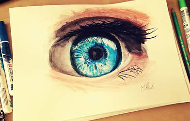 Eyes like sapphires, dreams as bright as the ocean by Schoerie