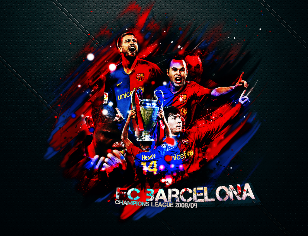 Group Of Fc Barcelona Champions League 2017 Wallpaper