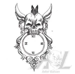Skull Clock 01